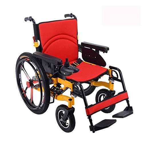 Y-L Senioren mit Behinderung Elektrorollstuhl - Best Folding Motorisierte Elektrorollstühle Lightweight Best Heavy Duty Lithium Batterie Electric Power (Gelb) -