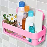 #7: Techsun Bathroom Shelves, Soap Dish Holder Wall Mount Suction Cup, Soap Holder Rack Stand Container 1Pcs (Multicolor)