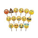 ASVP Shop® Fotostützen für Fotos und Fotoausstellung in verschiedenen Emoji-Designs, groß genug, um das Gesicht abzudecken - ideal für Hochzeiten und Partys (15er Pack).
