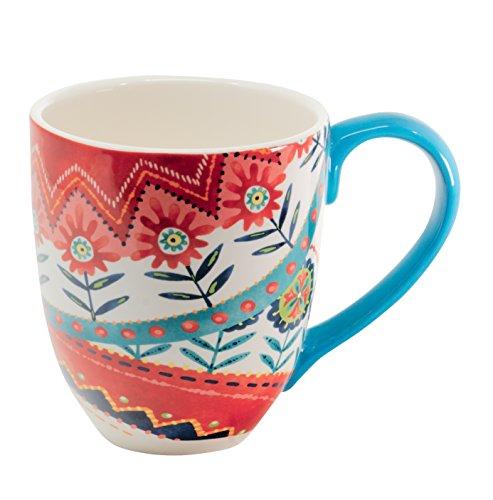 Jumbotasse Becher XXL folkloristische Deko 810 ml aus Keramik Trinkbecher Smoothie Becher Geschenk Büro Tasse für Kaffee Teetasse Cappuccino Kaffeebecher Jumbo-Tasse Riesentasse XXXL von DUO (Saga)