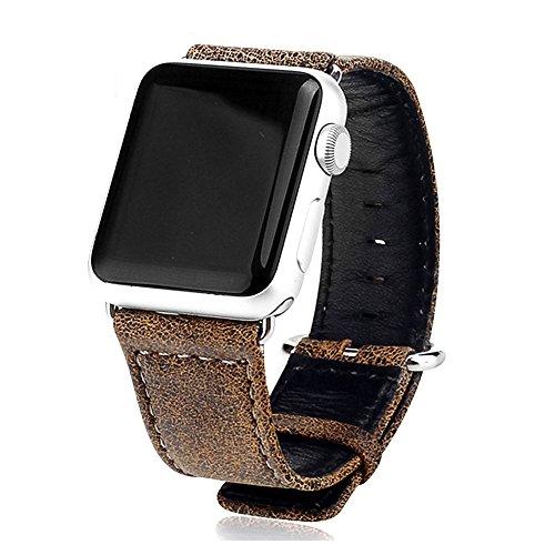 Apple Watch Leder Armband 42mm Uhrenarmband Lederarmband für Apple Watch Series 1 Series 2 Series 3 Leopard