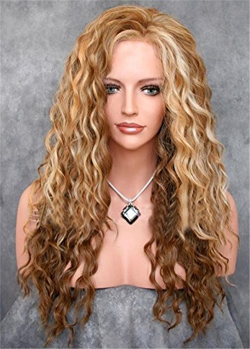 Europa und die Vereinigten Staaten Mode Damen kleine Rollen Farbverlauf Gold Chemiefasern Hochtemperatur Draht Perücke (Göttin Natürliche Rote Perücke)