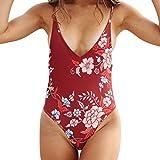 Cinnamou Fashion Femmes Bikini Impression Fleurs Maillots De Bain Bandage Push-Up Maillot De Bain Rembourré Beach Wear Swimsuit (XL)