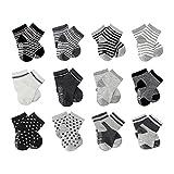 FUTURE FOUNDER 6er-pack Stoppersocken Kinder Baby ABS Socken, Anti Rutsch Socken für 0-24 Monate Baby Mädchen und jungen