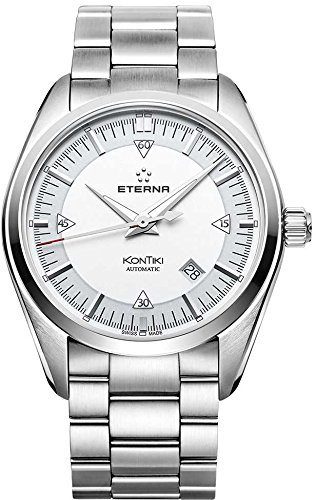 Eterna KonTiki 1222.41.11.0217 42mm Automatic Silver Steel Bracelet & Case Anti-Reflective Sapphire Men's Watch