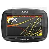 atFoliX Folie für Garmin Zumo 390LM Displayschutzfolie - 3 x FX-Antireflex-HD hochauflösende entspiegelnde Schutzfolie