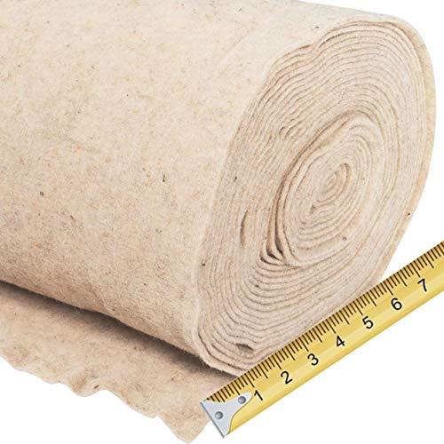 AFP Meterware Schafwollmatte Winterschutz Pflanzen weiß, Breite: 50 cm im Zuschnitt pro Meter bestellbar/Naturmaterial Wolle/Frostschutz Kübelpflanzen / 2 Jutesäckchen gratis
