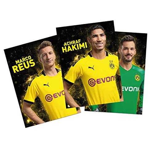 Borussia Dortmund Autogrammkarten Team 2019/20 Sammelkarten, Autographs Card BVB 09 - Plus Lesezeichen I Love Dortmund