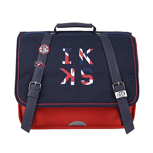 Cartable 35 Rouge IKKS Union Jack Russel