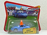 Disney Pixar Cars Sally with Cone Diecast Short Card Race O Rama 1:55 Scale Mattel