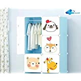 Dreamworld Wardrobe Cupboard Closet Cabinet 6 Doors Storage Organizer Rack Shelf For Clothes Living Room Bedroom Portable Wardrobe Storage Organizer With 6 Shelves 3.5 Feet Folding Wardrobe Color As Image