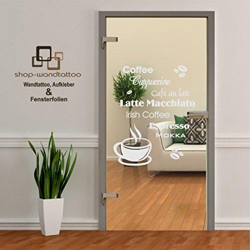 Glastür Aufkleber Tattoo Folie Glasdekor Fensterfolie Sichtschutz Wohnzimmer, Büro, Küche oder für alle Glasflächen Sichtschutzfolie für Türen GDT544 Größe ca. 70cm x 50cm