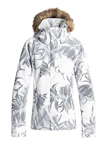 Roxy Jet Ski Chaqueta para Mujer, Mujer, Color Blanco Claro, tamaño FR : XL (Taille Fabricant : XL)