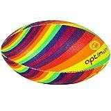 OPTIMUM Uomo Rainbow Twister Pallone da Rugby, Uomo, ORBRAIT4, Multi-Coloured, 4