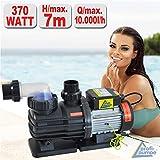 Schwimmbadpumpe POOL-STAR-370W-1, Poolpumpe - Filterpumpe Schwimmbad/Swimmingpool, energiesparsam zuverlässig und effektiv, leichte Filterreinigung
