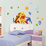 Jaamso Royals ' Winnie the Pooh Wall Sticker Home Decor Cartoon ' Wall Sticker (PVC Vinyl, 70 cm X 50 cm, Kids Room Wall Stickers)