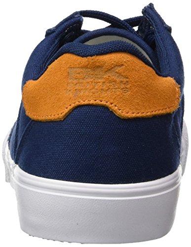 British Knights - Lando, Scarpe da ginnastica Uomo Blu (Blau (Navy-Orange 02))