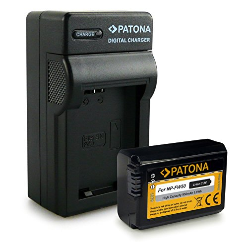Novità - 4in1 Caricabatteria + Batteria como NP-FW50 per Sony NEX-5 | 5A | 5D | 5H | 5K | 5N | N3 | 3A | 3D | 3K | 6 | 7 | C3 | F3 - Sony SLT-A33 alpha 33 | SLT-A35 alpha 35 | SLT-A37 alpha 37 | SLT-A55 alpha 55 | SLT-A55V alpha 55V