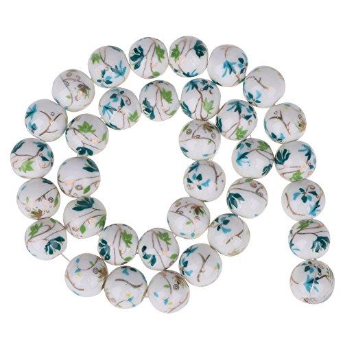 10mm Chinesischen Keramik Perlen Porzellan Charme Lose Perlen Armband Halskette Schmuckherstellung(# - Perle-perlen-halsketten-bulk