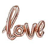 LAAT Love Bannière à Ballon Extra Large Ballon de Célébration de Feuille D'aluminium Mariage Romantique, Anniversaire, Décor de fête d'engagement, Renouvellement de vœux, Champagne (42 Pouces)