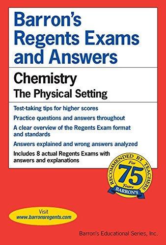 Barron's Regents Exams and Answers : Chemistry: Chemistry: Chemistry by David Kieffer (1982-12-31)