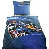 "Global Labels G 58 600 RB8 120 Red Bull Bettwäsche ""Sebastian Vettel RB8"" Renforce 135 x 200 Bettbezug und 80 x 80 cm Kissenbezug"