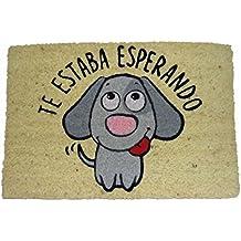 koko doormats Felpudo Coco-Perro Esperando, 60x40