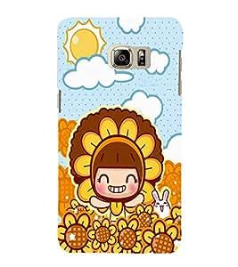 EPICCASE Sunflower girl Mobile Back Case Cover For Samsung Galaxy Note 5 Edge (Designer Case)