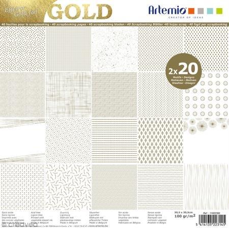 Artemio Scrapbook-Block Gold -