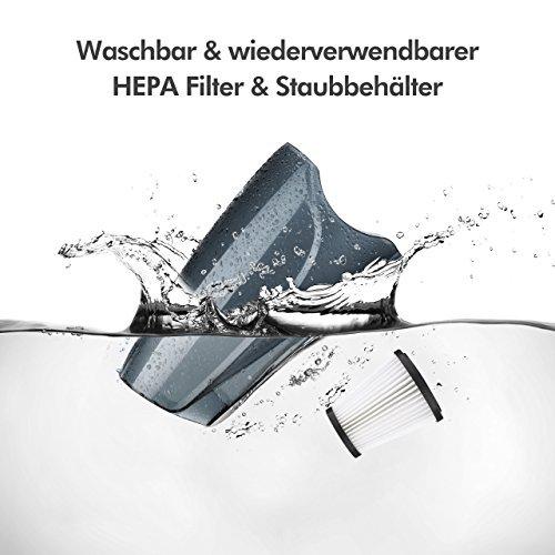 Staubsauger Beutellos, Holife【Energieklasse A】2in1 Stiel-Staubsauger & Handstaubsauger mit Kabel ohne Beutel (550W Motor, 12KPa Saugkraft, 0,8L Fassungsvermögen, Leichtgewicht, Hepa Filter), Beutellos Handsauger Bodenstaubsauger Schnell zur Hand.