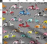 Vespa, Motorrad, Roller, Räder, Italienisch Stoffe -