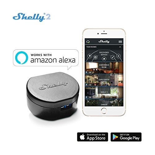 Shelly 2- WiFi Smart Switch- Doppel Schalter Realis- Fuktioniert mit Amazon Alexa (1 Pack)