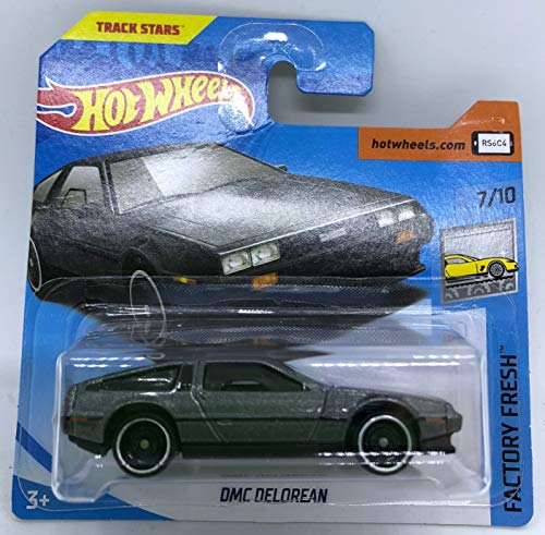Hot Wheels 2018 DMC Delorean Metallic Grey 7/10 Factory Fresh 270/365 (Short Card)
