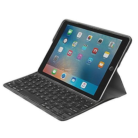 Logitech CREATE Étui de Protection Noir avec Support Multi-Angle pour iPad Pro 9.7 (AZERTY, Clavier
