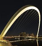 John Short / Design Pics – Gateshead Millennium Bridge at nighttime; Gateshead Tyne and Wear England Photo Print (38,10 x 40,64 cm)