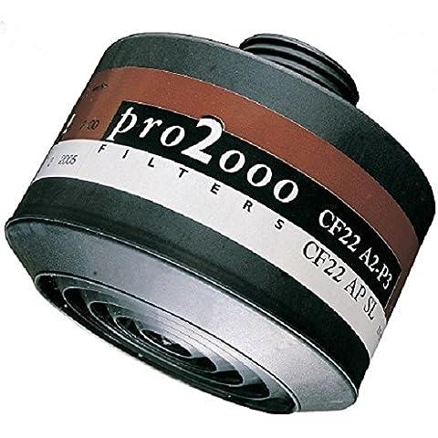 Scott  - 5042670 cf 22 filtros a2p3 para máscaras sari, promask, vision2, blanco / marrón