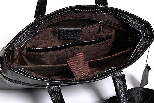 Man Handtasche Leder Umhängetasche Beiläufige Tasche Erste Schicht Rindsleder Große Kapazität Mode Männliche Tasche Black