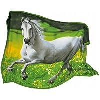 Small Foot Company Coperta Cavallo, Tessuto, Multicolore - Tessuto Cavallo