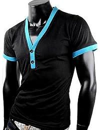 Herren T-Shirt Shirt V Ausschnitt Tanktop Tank top T shirt poloshirt body