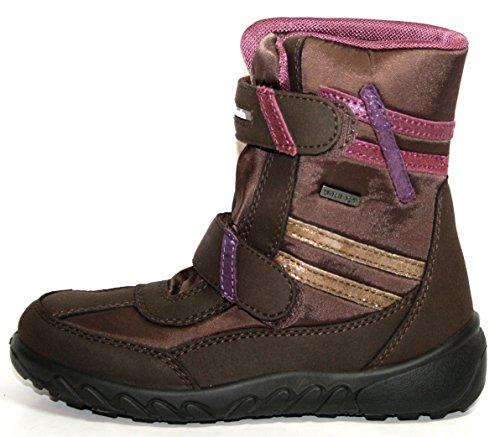 Sabaria by juge-chaussures 44.6900, bottes fille - Braun (muskat/hasel/vino/mal 0004)