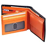 Domaxx Geniune Leather RFID Blocking Trifold Wallets-Made Genuine Soft Leather Large Classic Pocket
