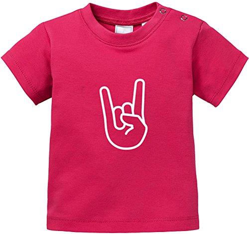 EZYshirt® Rock Hand Baby T-Shirt (Punk-baby-t-shirts)