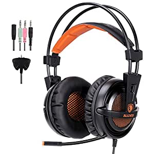 GHB Sades A55T Gaming Headset PC Headphone Lightweight Over Ear with Microphone for Computer Laptop PS4 Xbox360 Smartphone Tablet