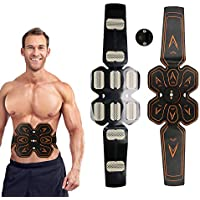 Electronic Muscle Stimulator USB Rechangebale Intensity Abdominal Muscle Stimulation Massager Fat Reducing Fitness Training Abs Trainer, Adjustable Massage Mode, Intensity, For Men and Women