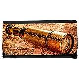 le portefeuille de grands luxe femmes avec beaucoup de compartiments // V00002403 Vintage catalejo en el mapa del mundo // Large Size Wallet