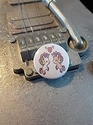 Badge deux Licornes coeur