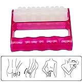 Risingmed, rullo massaggiante portatile, rullo massaggiante per il corpo con impugnatura; massaggiatore snellente per le gambe, anticellulite, defaticante