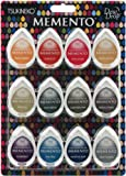 Tsukineko-Memento Dew Drop Ink Pads. This Dye Ink Is Excellent For Stamping, Stenciling, And Direct-To-Paper Applications. The Unique Shape Of The Fabric-Topped Pad Offers More Options-- Use The Narrow Tip For Corners And Details And The Round End Fo...