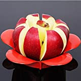 Moppi Flower Shape Apple Corer Slicer Divider Fruit Cutter