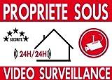 """Panneau de dissuasion """"propriéte privée sous vidéo surveillance"""" 300x200mm..."""